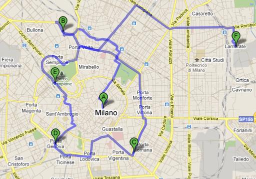 Milan global map